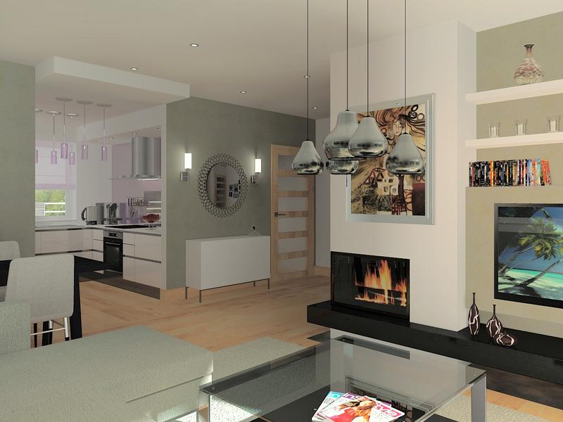 Przykładowa wizualizacja wnętrza: pokój dzienny